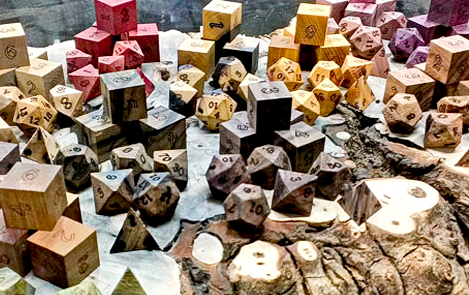 wood dice collection